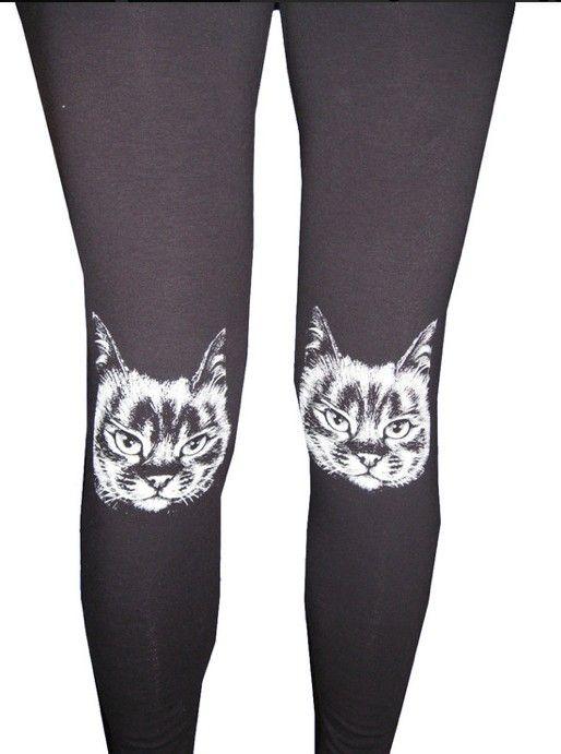 Fuchsia Crazy Cat Lady Leggings