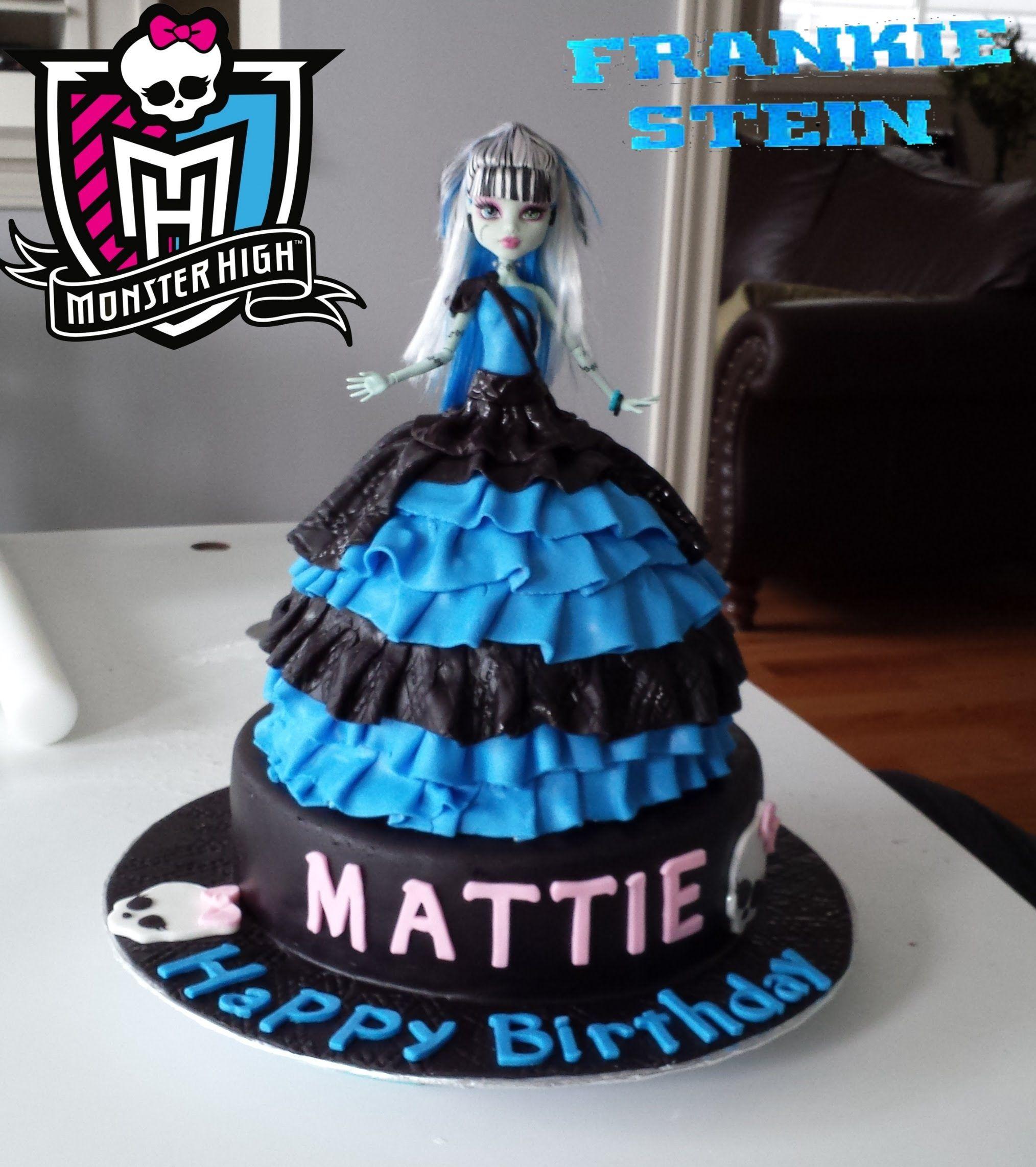 Frankie Stein Monster High Doll Birthday Cake 2014 BABIES