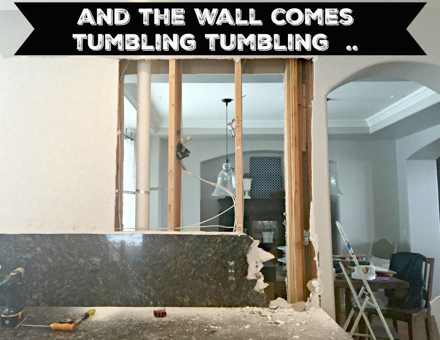 Check Out The Photos Of Our Diy Kitchen And Dining Room Wall Tear Down Walls Ontheblog