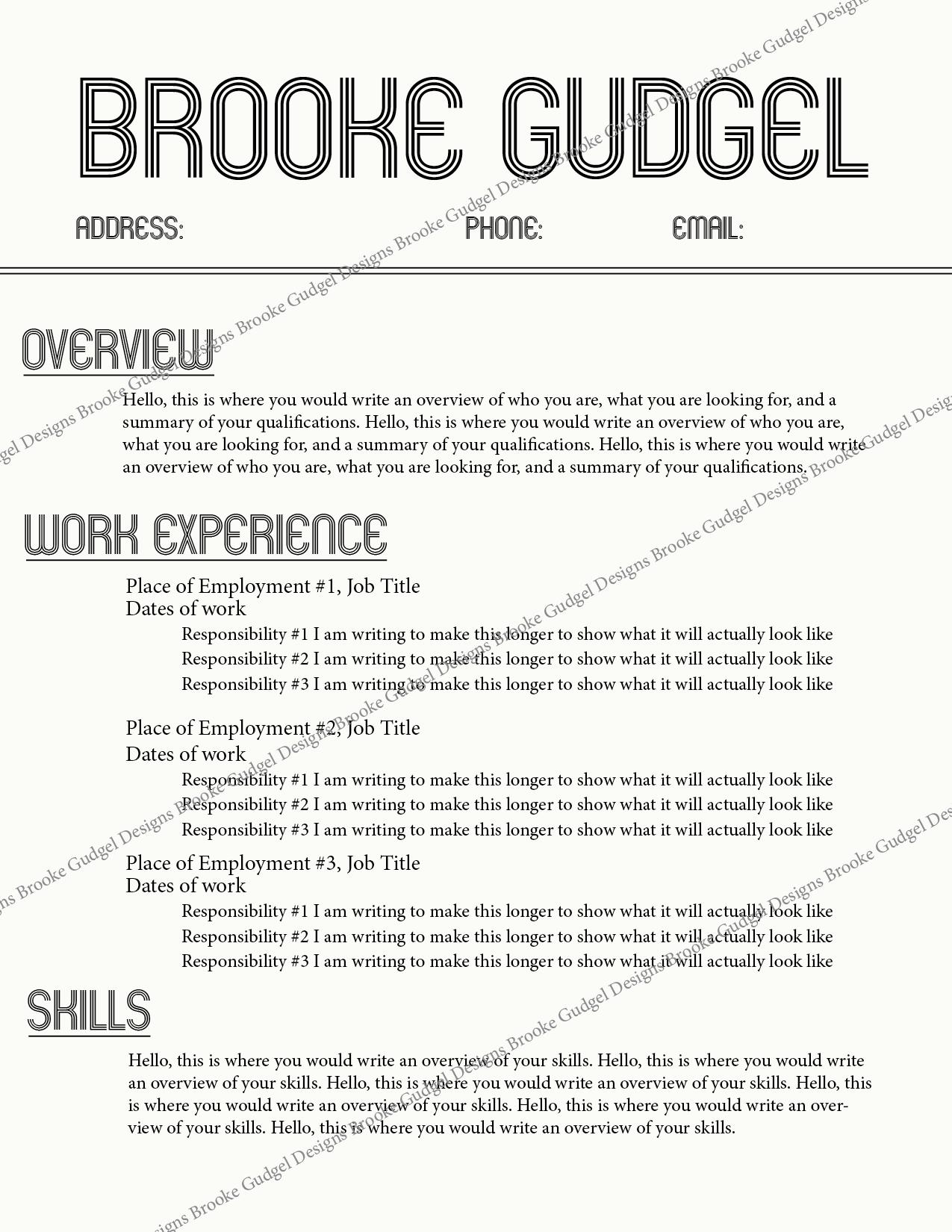 Retro Resume Contact Brookegudgel Gmail Com Rush Sorority Resume Template Sorority Resume Resume Template Resume Examples