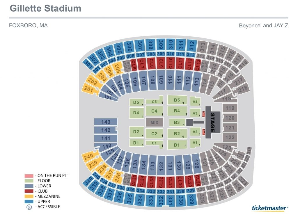 Gillette Stadium Seating Chart Concerts Gillettestadiumconcertseatingchartdeadandcompany Gillette Gillette Stadium Dead And Company The Formation World Tour