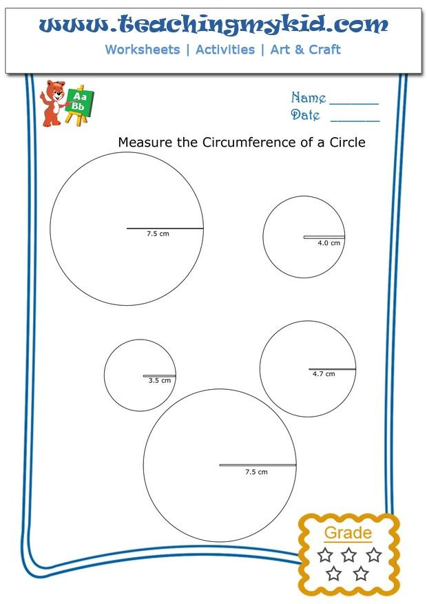 Measure the circumference of a circle – Worksheet 4 ...