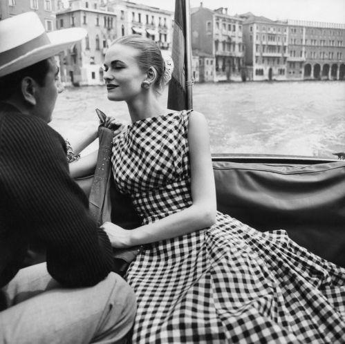 Susan Abraham, photo by Henry Clarke, Venice, published in Vogue, July 1956    The Condé Nast Publications Ltd./trunkarchive.com
