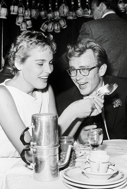 507047229658 James Dean and Ursula Andress at a party for Frank Sinatra