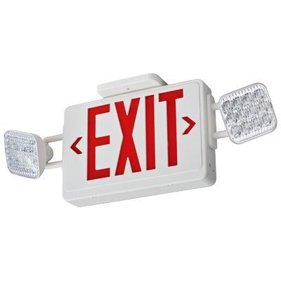 lithonia lighting ecr led m6 red led ceiling mount exit sign