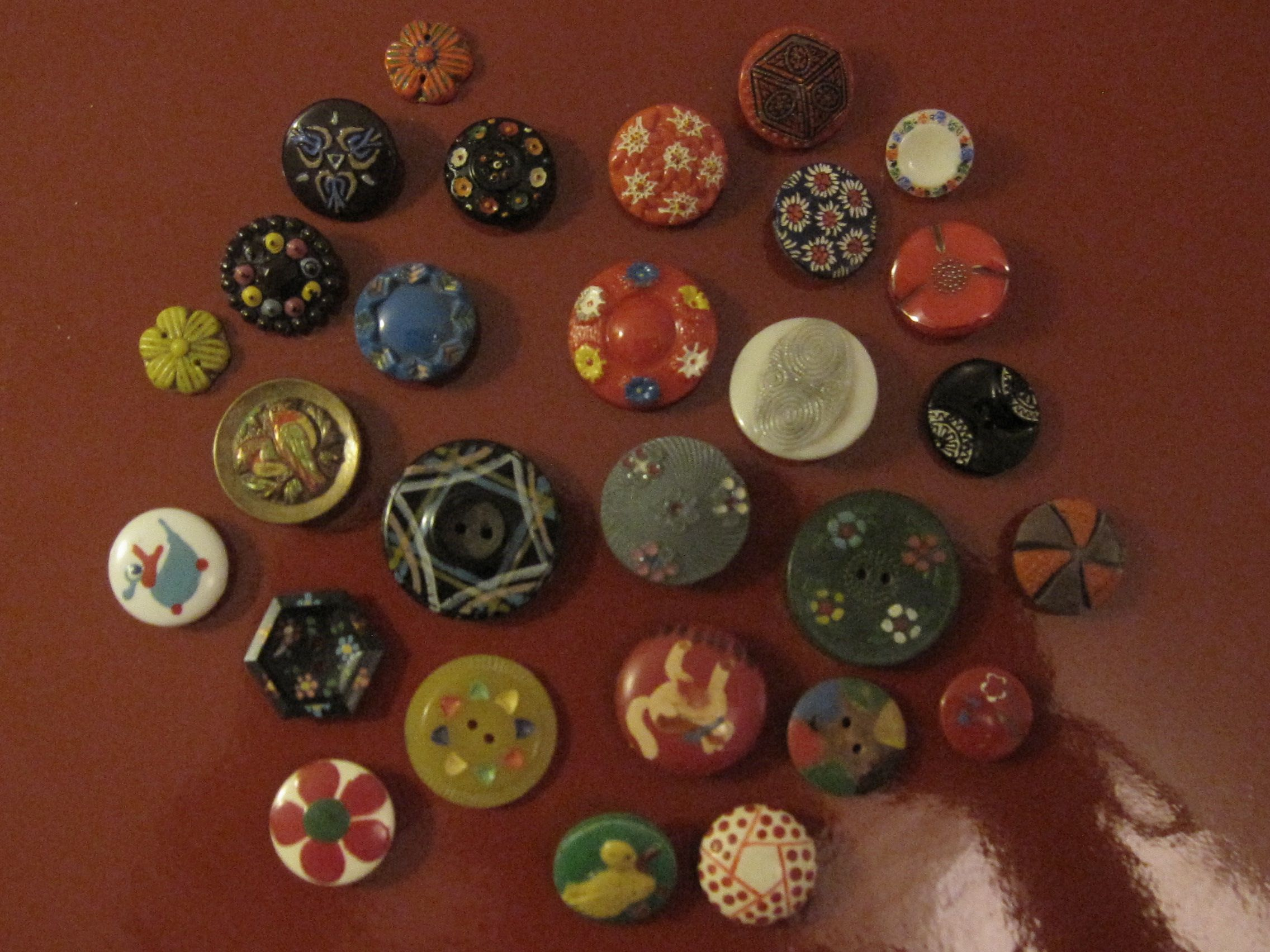 objets : collection, mes boutons peints