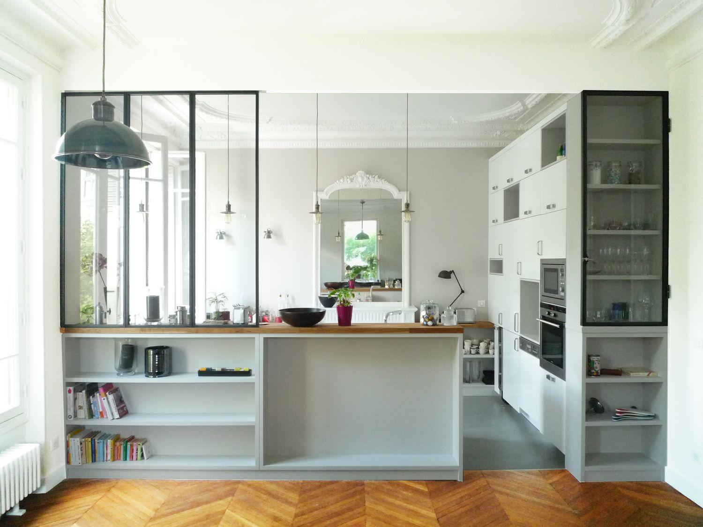 Photo separation cuisine salon - Separation en verre cuisine salon ...
