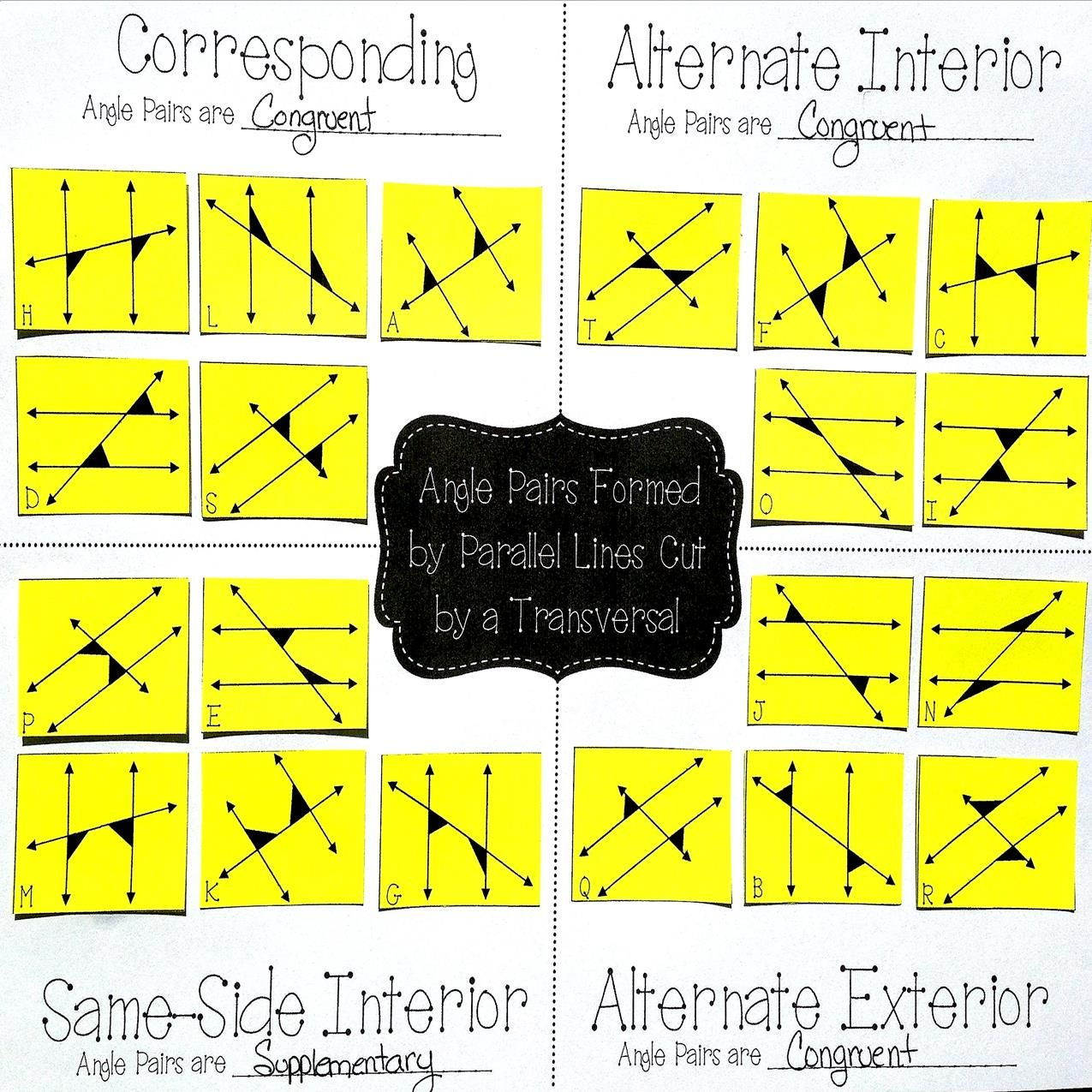 Free great practice for my th grade math  geometry students sorting angles created by also parallel lines cut  transversal card sort unit rh gr pinterest