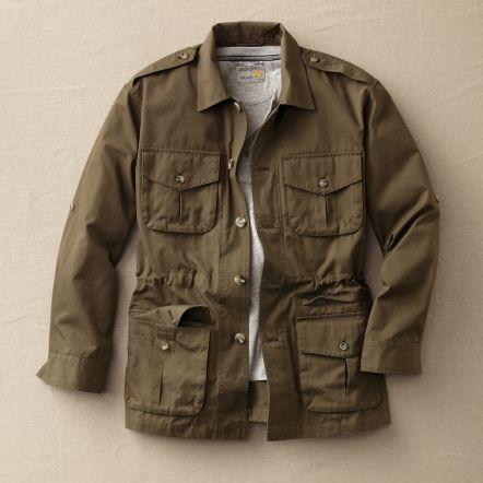 Bush Poplin Safari Jacket Jaqueta Moda E Roupas