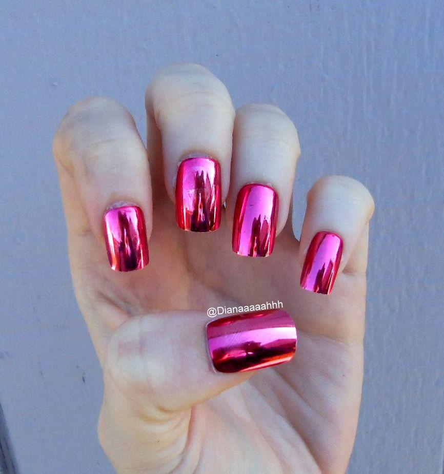 Metallic fake nails. Brand: Sassy + chic | Nails | Pinterest ...