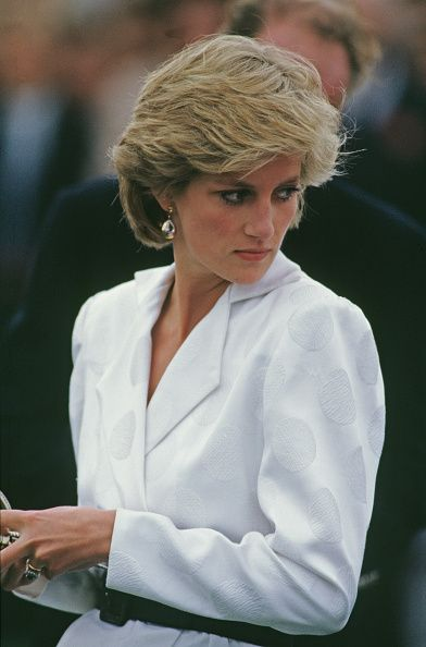 Diana, Princess of Wales at a Birthright charity polo match on...