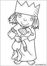 Ausmalbilder Von Kleine Prinzessin Zum Drucken Sarah