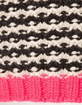 basket stitch with pink highlight