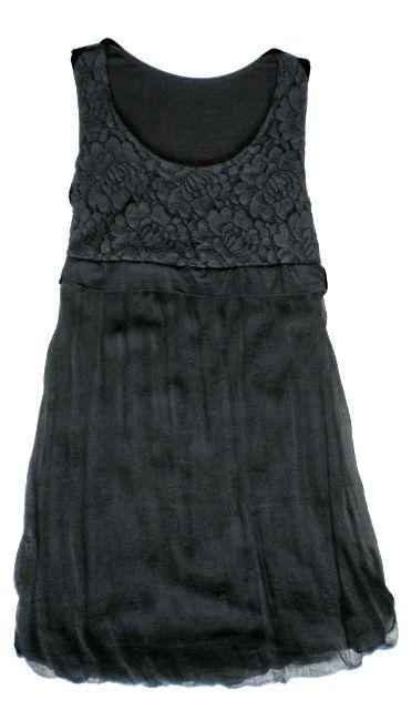 timeless design ff59a 51eee Abito seta nero con spallina larrga | Vestiti e top | Seta ...