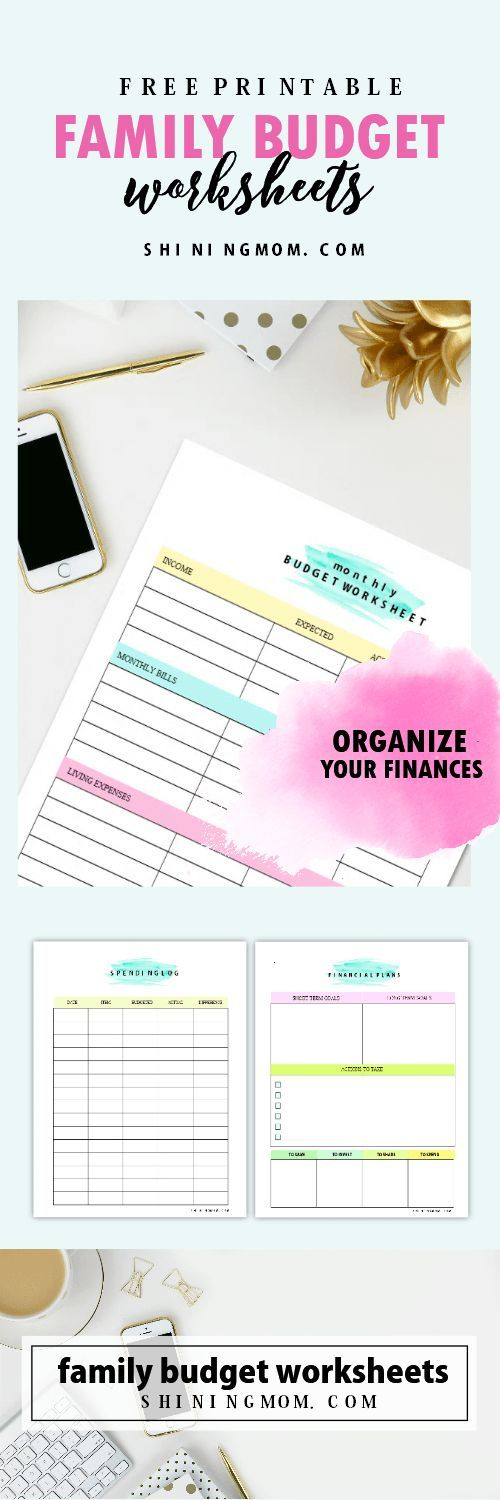Free Printable Family Budget Plan Worksheets that Work! Pinterest