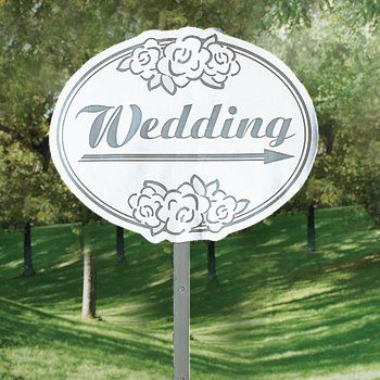 Cardboard Wedding Yard Sign Outdoor Wedding Decorations Rustic Wedding Signs Outdoor Wedding