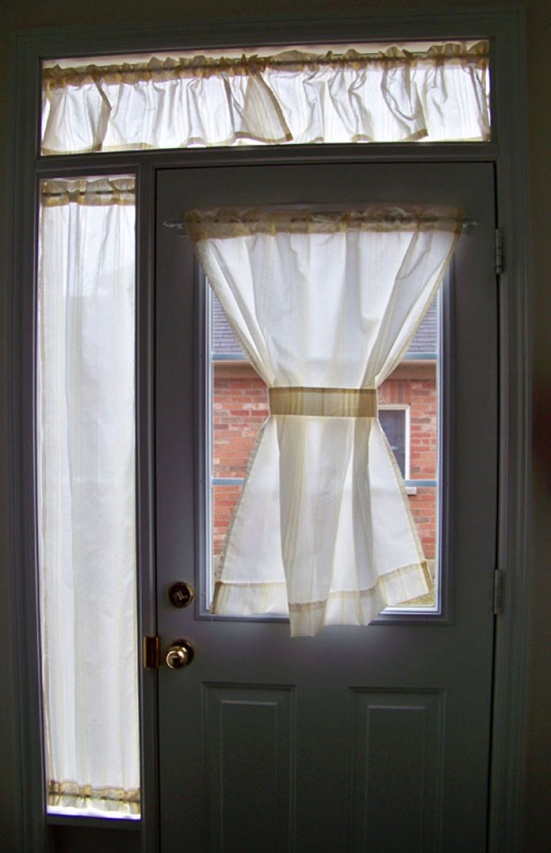 Half Door Window Curtains Front Door Curtains Curtains Front