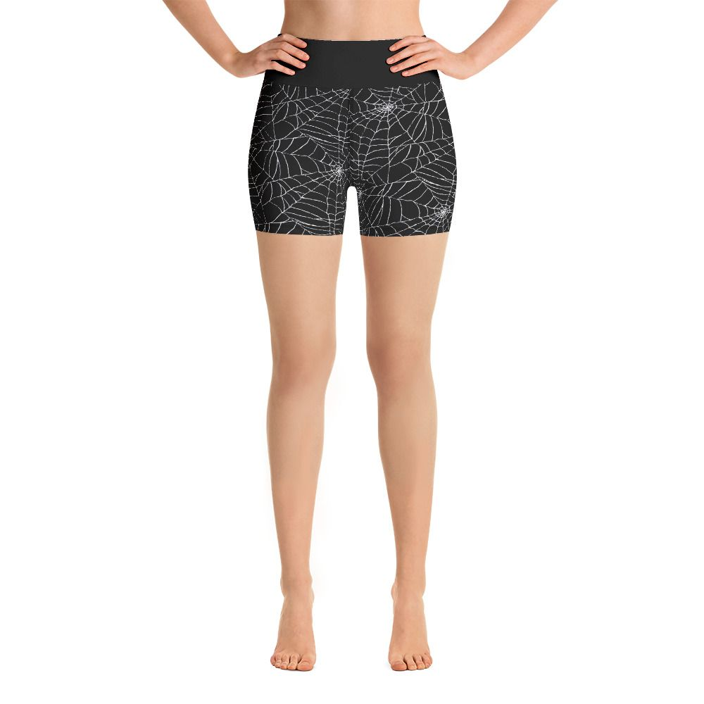 Dark Leopard Print Shorts  High Waisted Yoga Shorts  Gym Shorts  Running Shorts  Dance Shorts  Booty Shorts