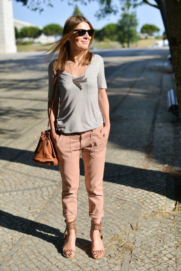 vieux rose et gris  Mode  Fashion Style et Outfits