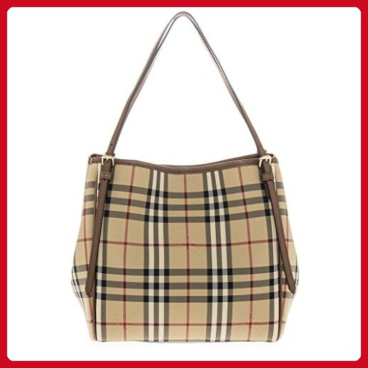 0267c0318a24 Burberry Women s  Small Canter  Horseferry Check Tote Bag with Equestrian  Saddle Straps Honey Tan - Totes ( Amazon Partner-Link)