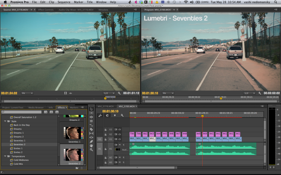 Lumetri Looks In Adobe Premiere Cc Vashivisuals Blog Adobe Premiere Pro Premiere Pro Cc Premiere Pro