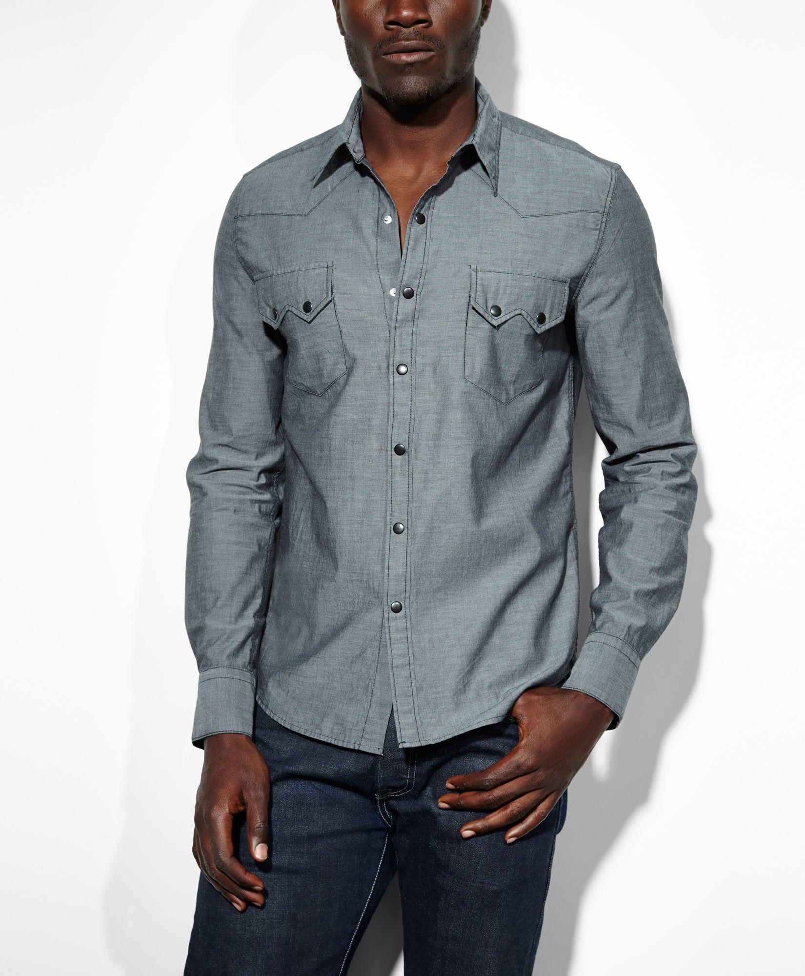 7094966e79 Levis Sawtooth Western Slim Fit Denim Shirt - BCD Tofu House