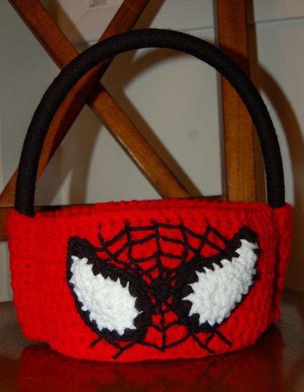 Spiderman Trick-or-Treat Bag via Craftsy