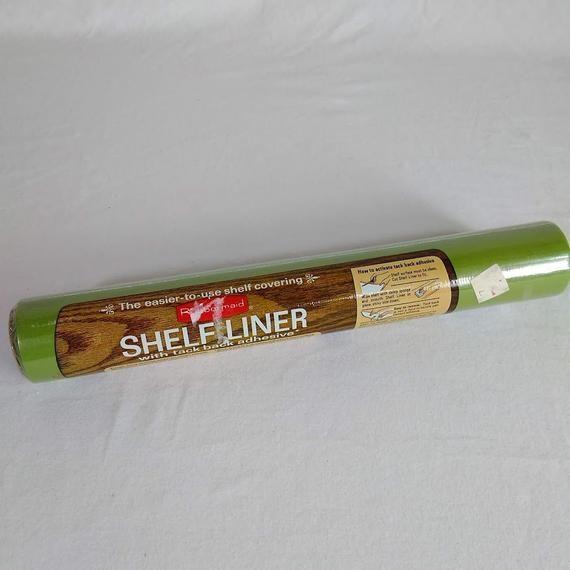 Vintage Rubbermaid Avocado Green Shelf Liner Nos 70s Kitchen
