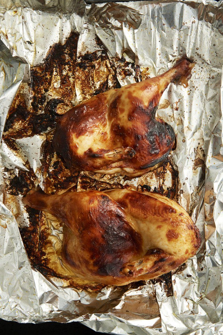Brined Piri Piri chicken. Use with chili sauce in next pin. BRINE zest 1 lemon 2 T lemon juice 2 T brandy 2 T salt T sugar 1 T peppercorns 1 T sweet paprika 2 cloves garlic 250ml water 250ml dry white wine Whisk brine ingreds together >salt and sugar dissolved. Remove wing tips; cut chicken into 1/4s. Submerge in brine > fridge 6-24 hrs. Remove and pat dry. Discard the used brine. Brush with oil before grilling on a hot barbecue or roasting in the oven.