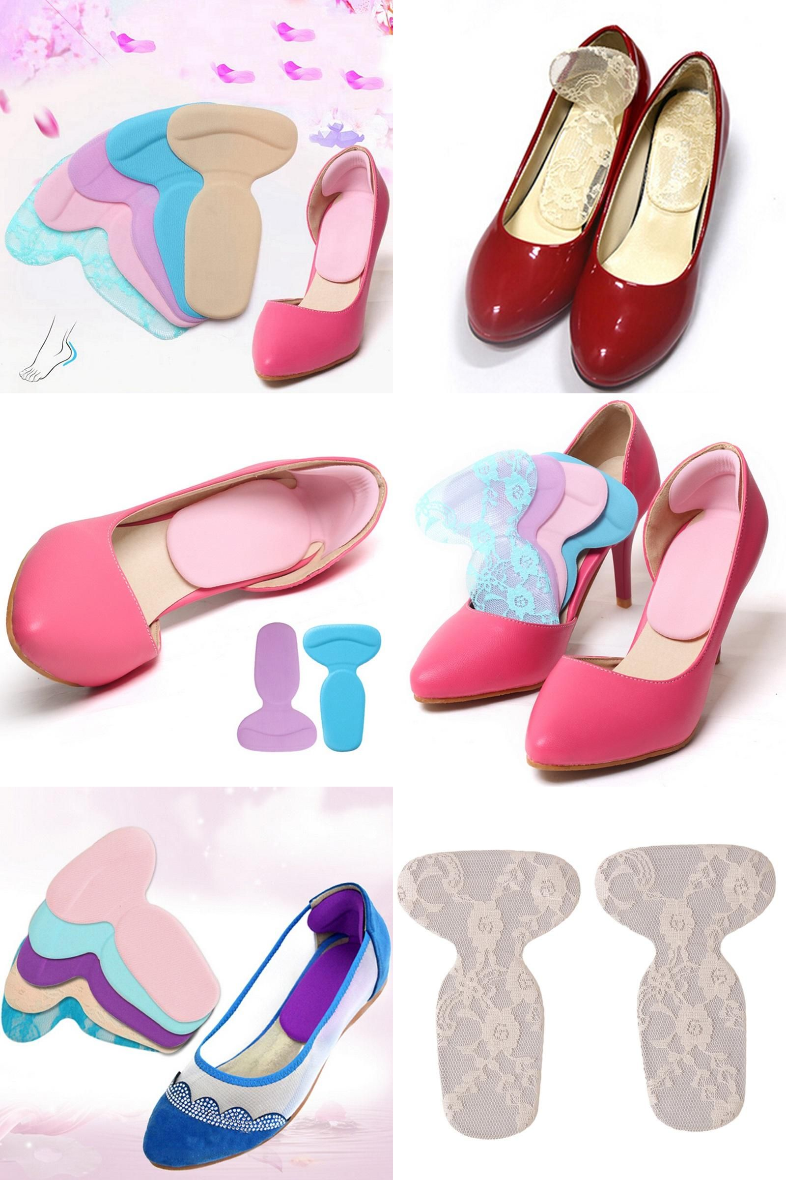 1Pair Shoe Insoles Cushions Soft Anti Pain Insoles Shoe Pads Shoe Accessories
