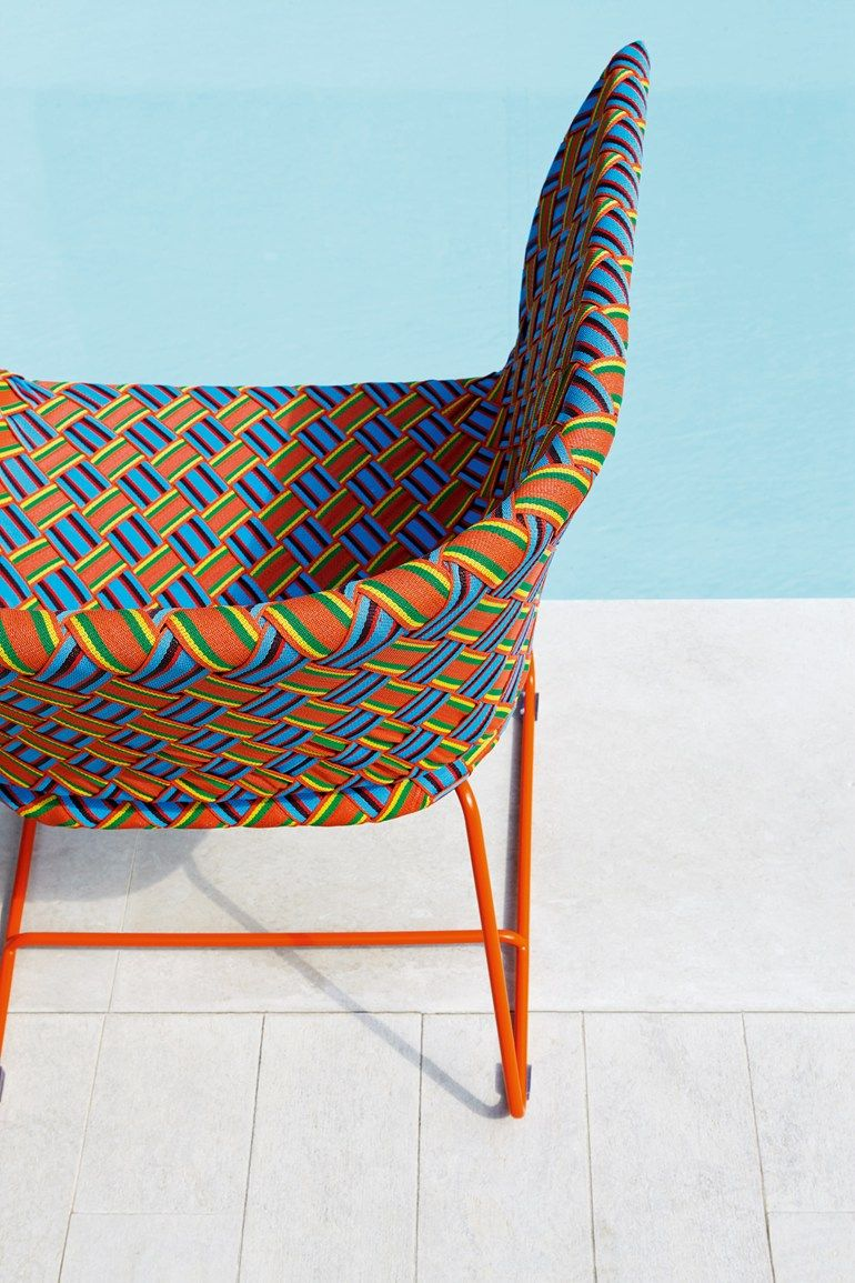 Easy chair with synthetic fiber weaving KENTE | Easy chair ... - Easy chair with synthetic fiber weaving KENTE | Easy chair - Varaschin
