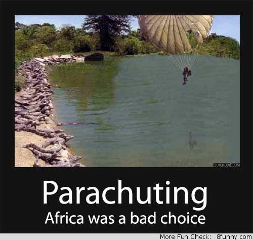 Death Parachute Of Faces Alligator Farm