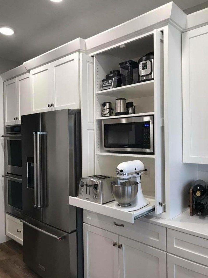 30 Astonishing Hidden Kitchen Storage Ideas You Must Have Coodecor Home Decor Kitchen Kitchen Cabinet Design Kitchen Remodel Small