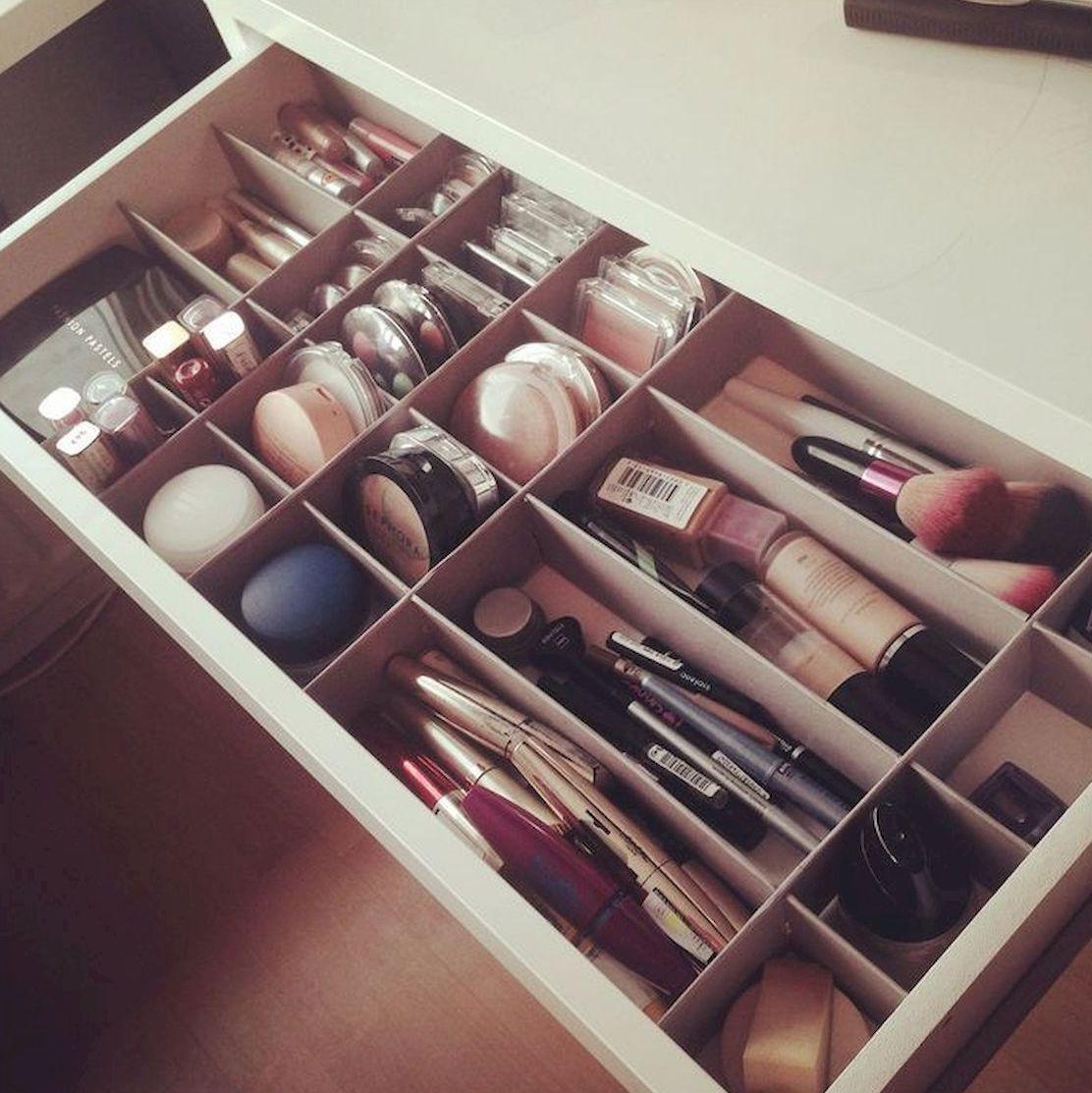50 Cool Makeup Storage Ideas That Will Save Your Time Jihanshanum Makeup Drawer Organization Makeup Organization Vanity Makeup Organization