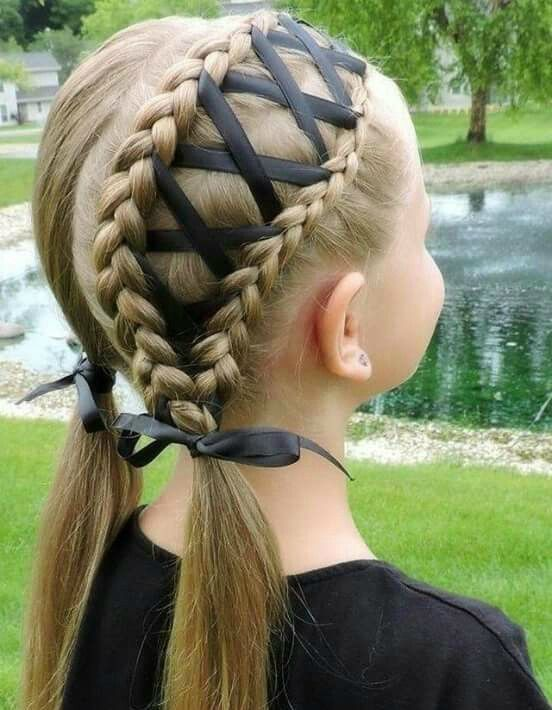 30 Super Cool Hairstyles For Girls Part 10 Ad Hair Styles Ribbon Hairstyle Kids Hairstyles