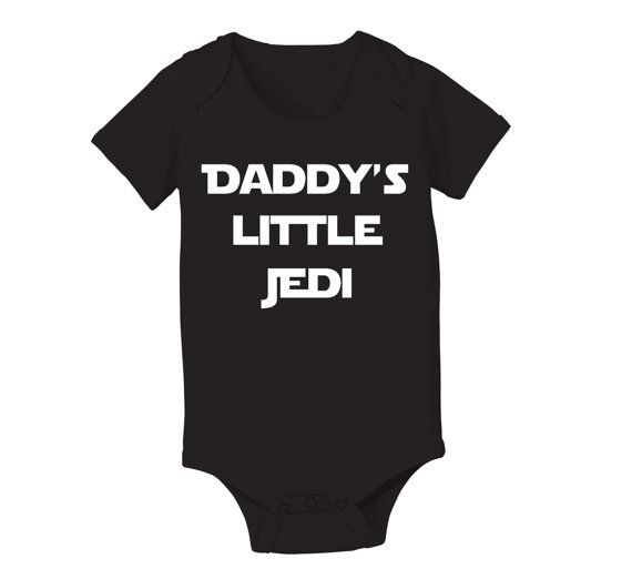 857164724 Daddys Little JEDI - funny hip retro movie party star wars force ...