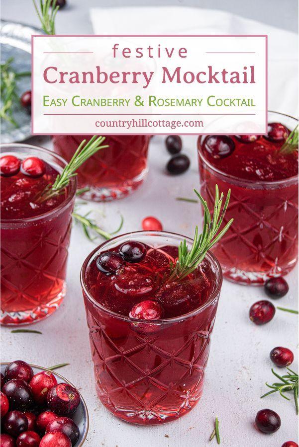 Cranberry Mocktail – Non-Alcoholic Cranberry Cocktail