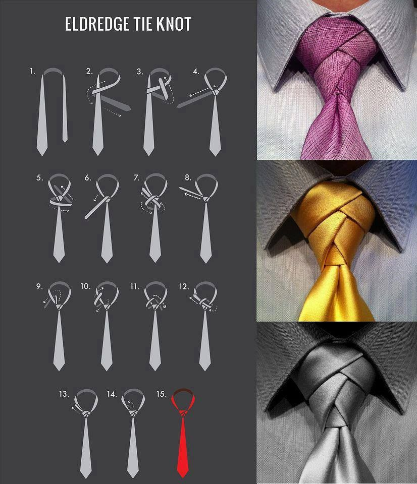 How To Tie Eldredge Knot Fashion I Love Pinterest Cool A