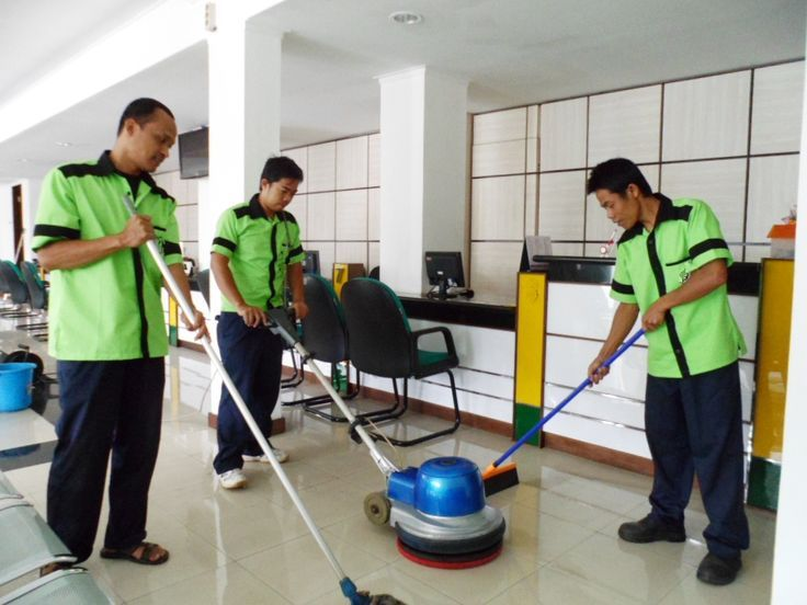 Professional Cleaners perform cleaning duties in an