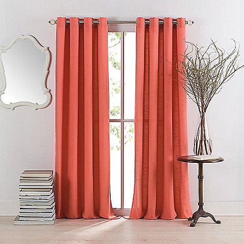 Anthology Sienna Window Curtain Panel Coral Curtains Panel Curtains Curtains
