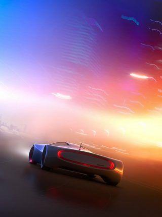 Concepto carro del futuro | Fondos para iPhone