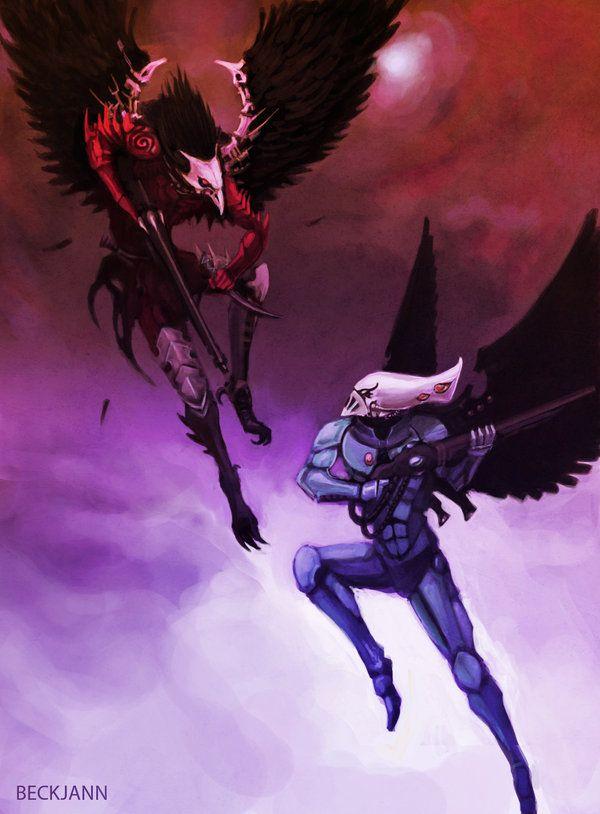 Scourge Vs. Swooping Hawk by Beckjann.deviantart.com on @deviantART