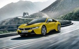 Wallpapers Hd Bmw I8 Frozen Yellow Edition Voitures Pinterest