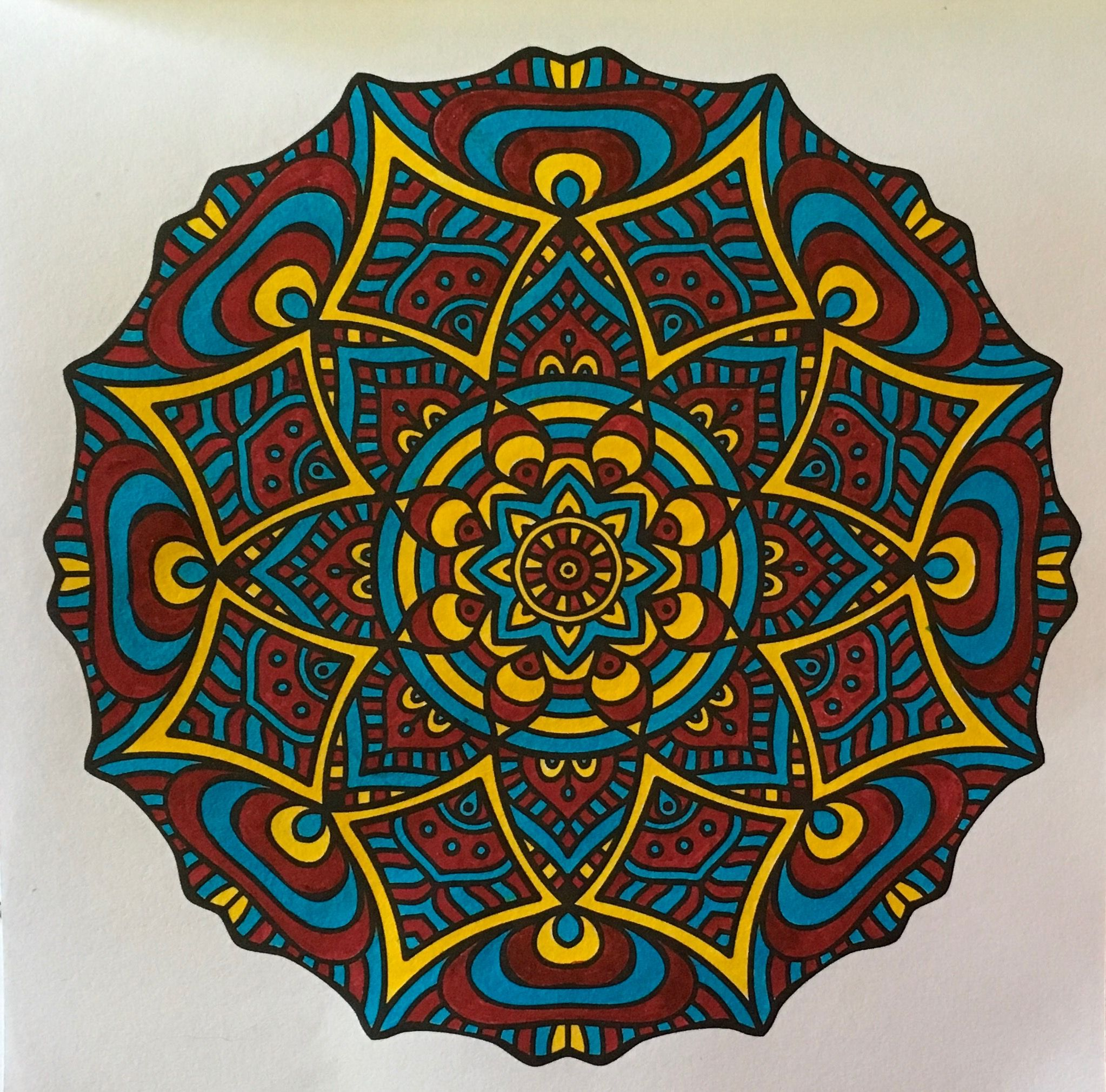 A Mandala From Pocket Coloring Book Mini Zen Creations For Portable Relaxation And