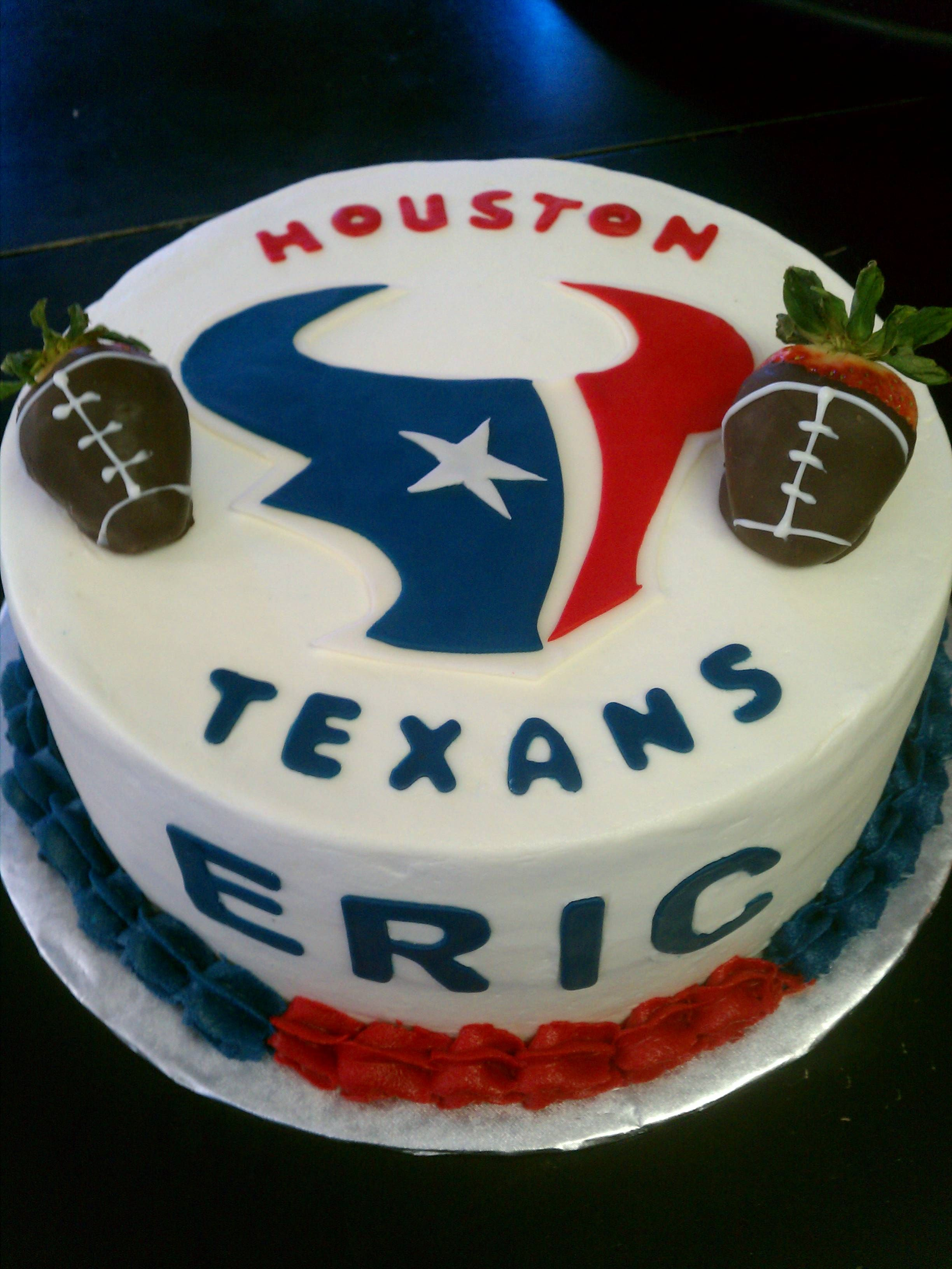 Houston Texans Cake Sports Themed Cakes Man Birthday