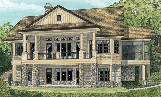 don gardner laurelwood | Rear Rendering of The Laurelwood - House ...