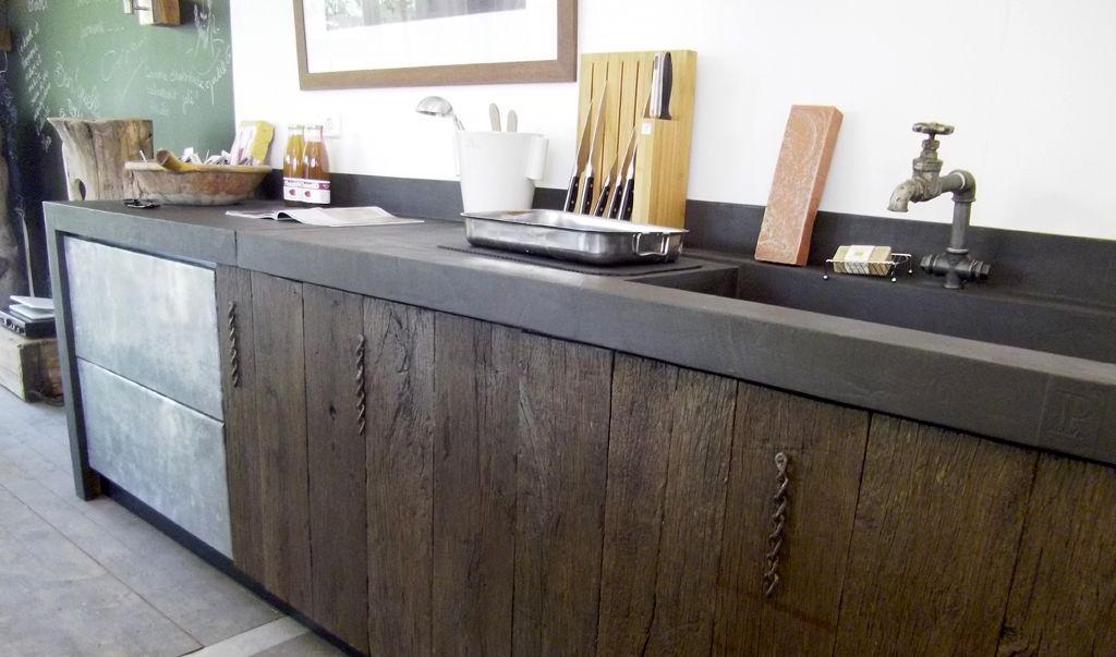cuisine-moderne-bois-ancien | déco | Pinterest | Bois ancien ...
