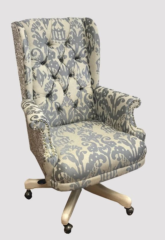 Tufted Wingback Upholstered Desk Chair Custom Furniture, Office Chair  Swivel Chair, Accent Chair,