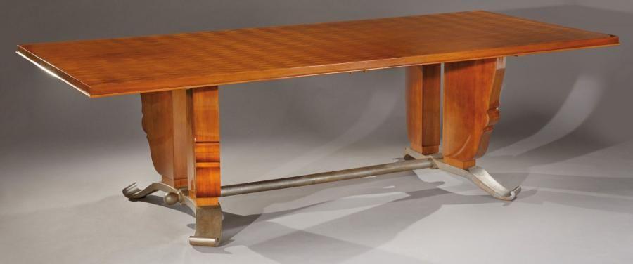 Jules Leleu (1883-1961) et Raymond Subes (1893-1970) Table de salle