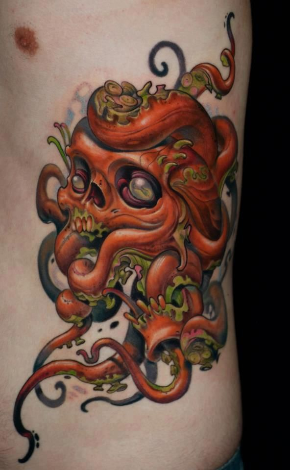 tatouage octopus pieuvre 11 | tattoo | tattoos, skull tattoos